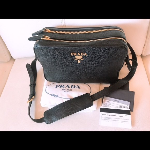 Prada double zipper crossbody NWT black 8d2b3ed438b86